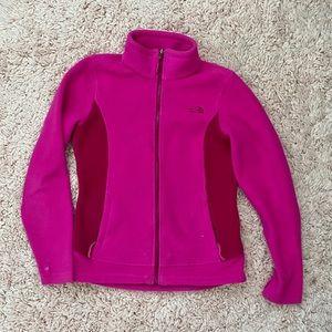 Pink North Face Zip-up Fleece